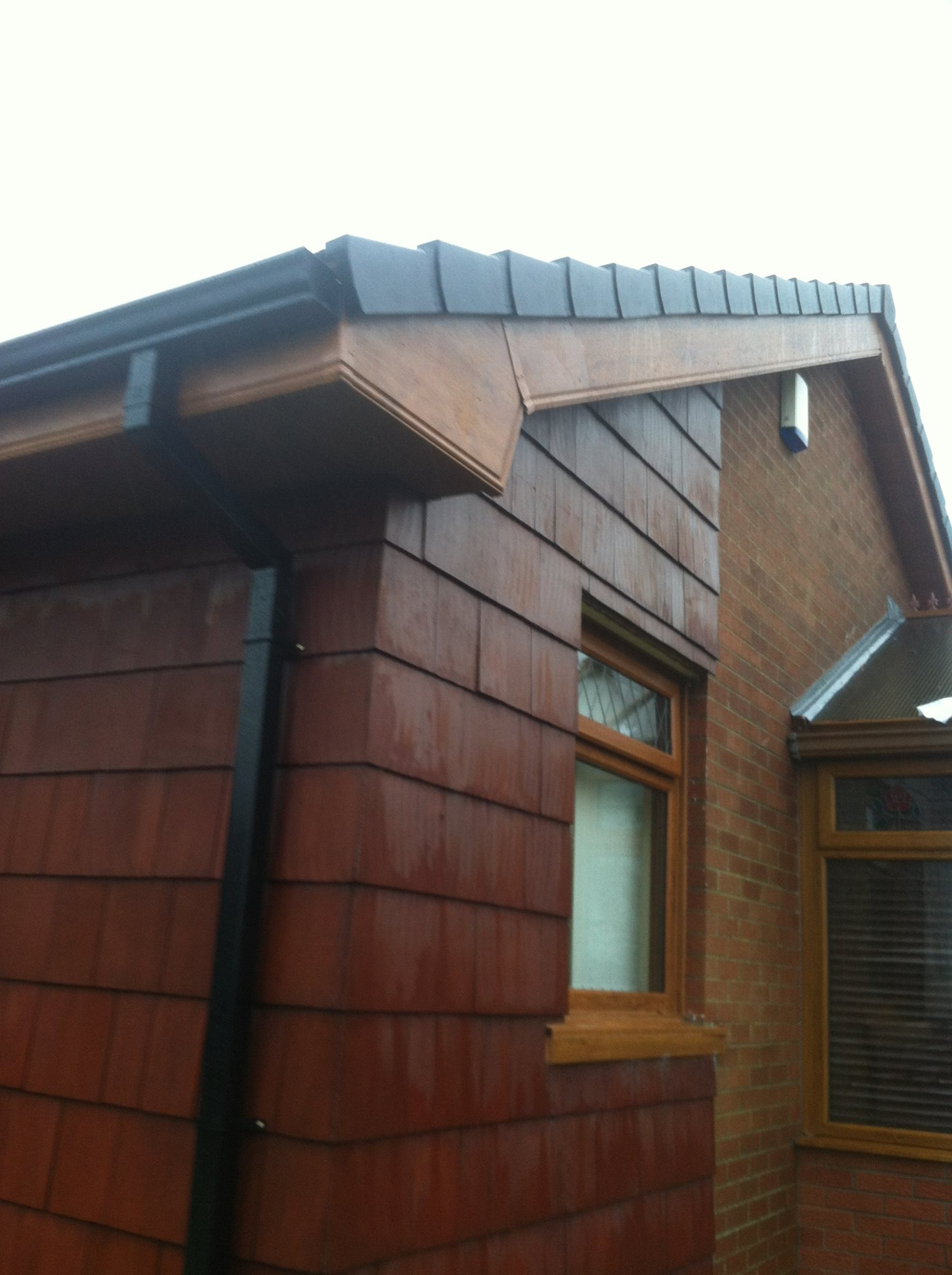 Black Fascia House Contemporary Exteriors Farmhouse: Roofline Direct NIRoofline Direct NI
